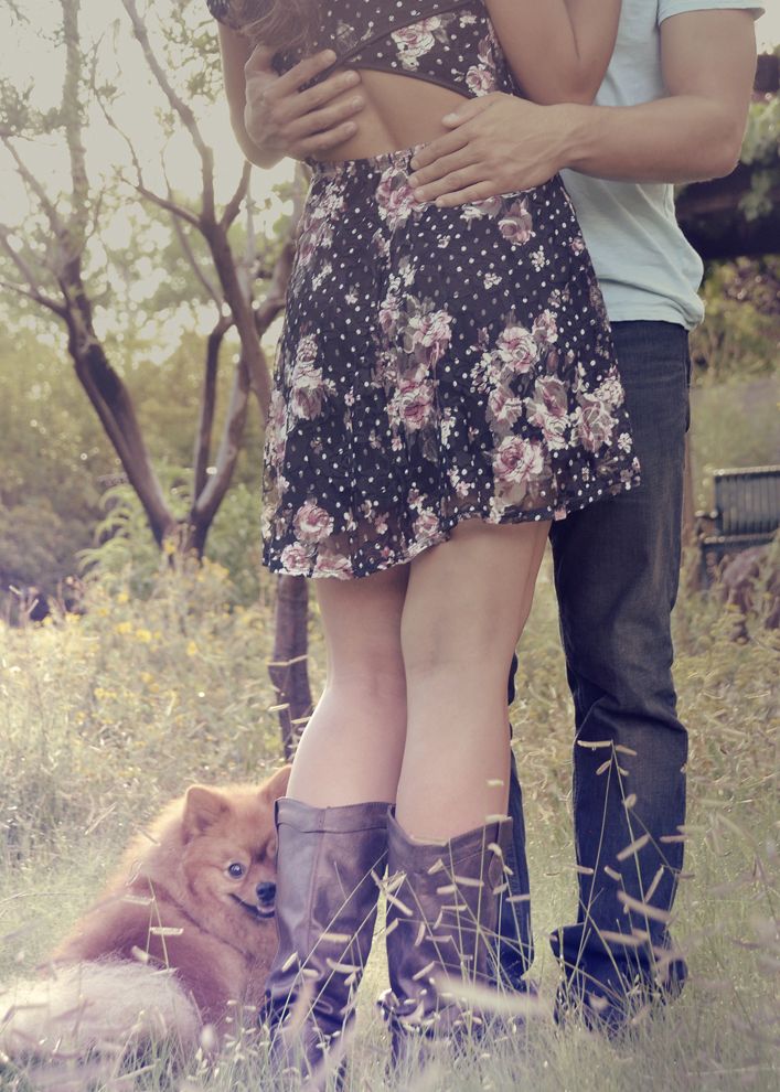 couple, dog, pet, outdoors, photography, engagement, Rio Rancho, photographer