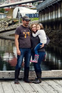 My family at a harbor in Juneau, Alaska.