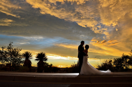 Sunset for Albuquerque wedding